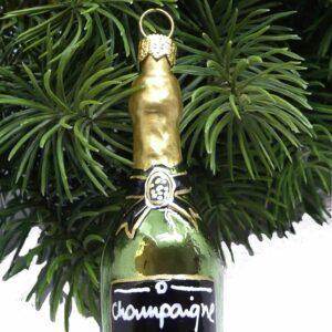 Weihnachtsdeko Champagnerflasche