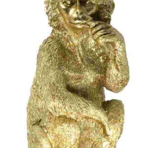 Affe goldfarben mit Wandaufhängung